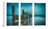 Triptych Beach View , Canvas Print