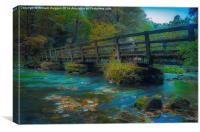 Millers Dale Foot Bridge., Canvas Print