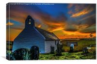 Chapel At Sunrise , Canvas Print