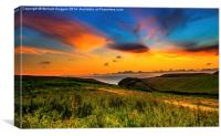 Cardigan Bay Welsh Dragon Fire ., Canvas Print