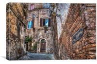 San Gimignano Alleyway , Canvas Print