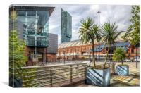Manchester Central Palm Trees , Canvas Print