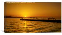 Croatian Pier Sunset ., Canvas Print