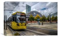 The tram from  Didsbury  to Manchester., Canvas Print