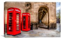 The Red Telephone Box,s , Canvas Print