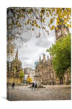 Albert Square Manchester, Canvas Print