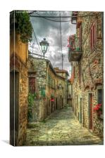 Tuscany Medieval Alleyway , Canvas Print