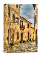 Tuscany  Alleyway , Canvas Print