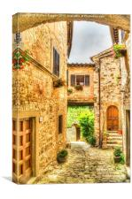Italian Hill Town Alleyway , Canvas Print