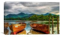 Lake Boats , Canvas Print