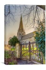St Marys Church Bampton,Oxfordshire , Canvas Print