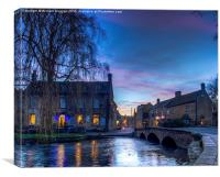 Bourton on Water in the Cotswolds, Canvas Print