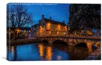Bourton on Water ,Cotswolds., Canvas Print