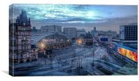Liverpool City ,Lime St ., Canvas Print