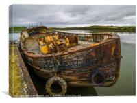 Old Galway Fishing Boat, Canvas Print