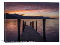 Ashness Jetty Derwentwater, Canvas Print