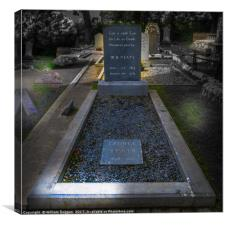 Head Stone of W. B .Yeats , Canvas Print