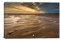 Widemouth Bay Sunset, Canvas Print