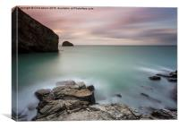 Slow Evening at Trebarwith, Canvas Print