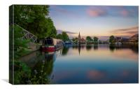 An evening along the thames, Canvas Print
