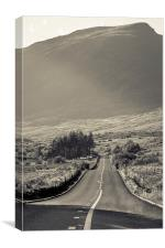 The long road, Canvas Print
