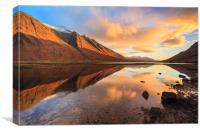 Last Light at Loch Etive, Canvas Print