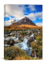 River Coupall Waterfall, Canvas Print