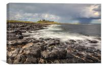 Approaching Storm at Dunstanburgh, Canvas Print