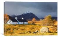 Autumn at Black Rock Cottage, Canvas Print