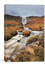 Clashnessie Waterfall, Canvas Print