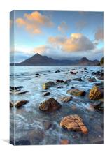 Clouds over the Black Cuillins, Canvas Print