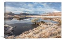 Frosty Morning at Lochan na h-Achlaise, Canvas Print