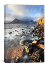 Late Light at Elgol, Canvas Print