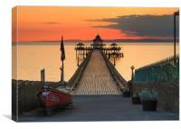 Towards Clevedon Pier, Canvas Print