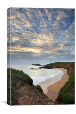 Godrevy Cove at Sunset, Canvas Print
