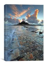 Causeway to St Michael's Mount, Canvas Print
