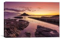 The Slipway at Sunset (St Michael's Mount), Canvas Print