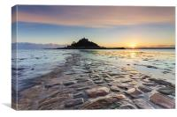 Setting Sun at St Michael's Mount, Canvas Print