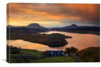 Above Loch Inchard, Canvas Print