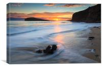 Oldshoremore Beach at Sunset, Canvas Print