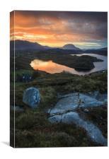 Loch Inchard Sunrise, Canvas Print