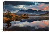 Loch Stack Sunrise, Canvas Print