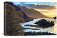 Late Light on the banks of Loch Shiel, Canvas Print