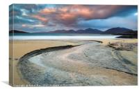 Luskentyre Beach at Sunset, Canvas Print