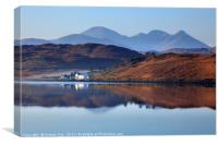 Reflections in Loch Ceann Hulabhaig, Canvas Print