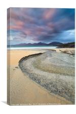 Stream at Sunset (Luskentyre), Canvas Print