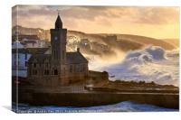 Stormy Morning (Porthleven) , Canvas Print