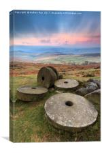 Morning at Stanage Edge, Canvas Print