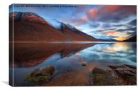 Reflections at Sunset (Loch Etive), Canvas Print