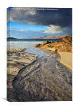 Late Light at Lustentyre Beach, Canvas Print